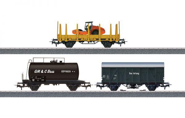 """Märklin 44083 – Märklin Start up – Güterwagen-Set """"Baustelle"""""""