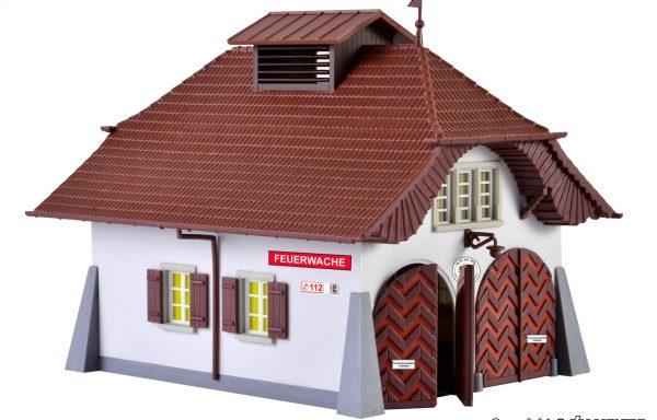 Kibri 38032 H0 Ländliche Feuerwache inkl. Hausbeleuchtungs- Startset